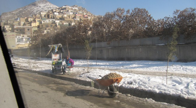 Snowy morning in Kabul