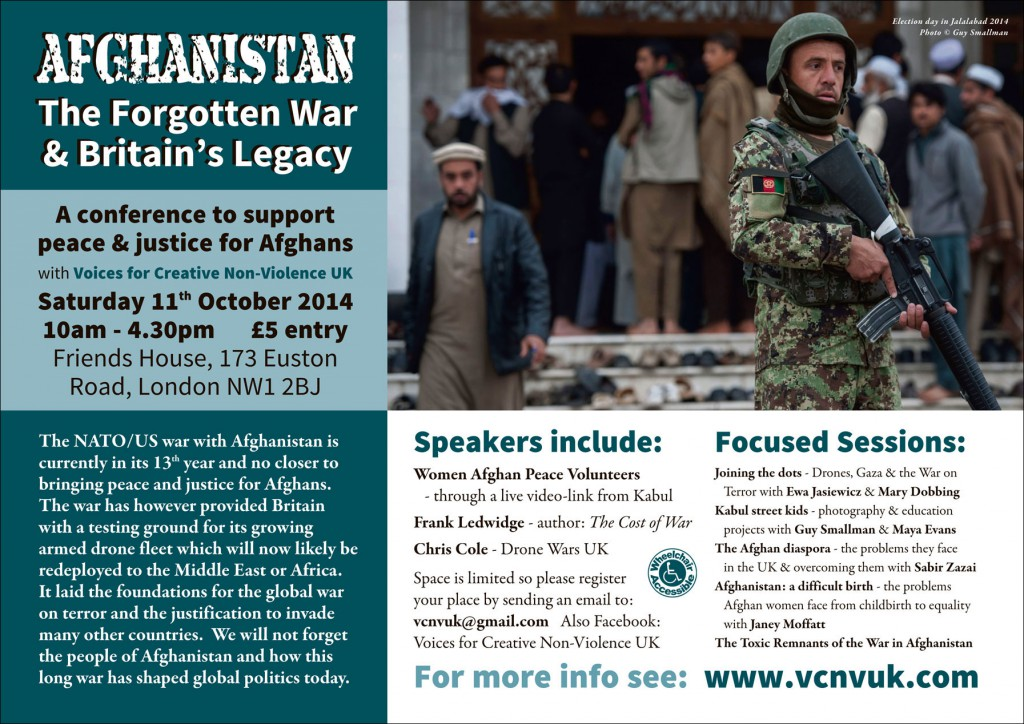 Leaflet for the Afghan Peace Conference 2014