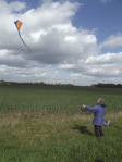 Woman Flying Kite