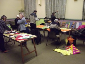 Hastings Against War kite making workshop