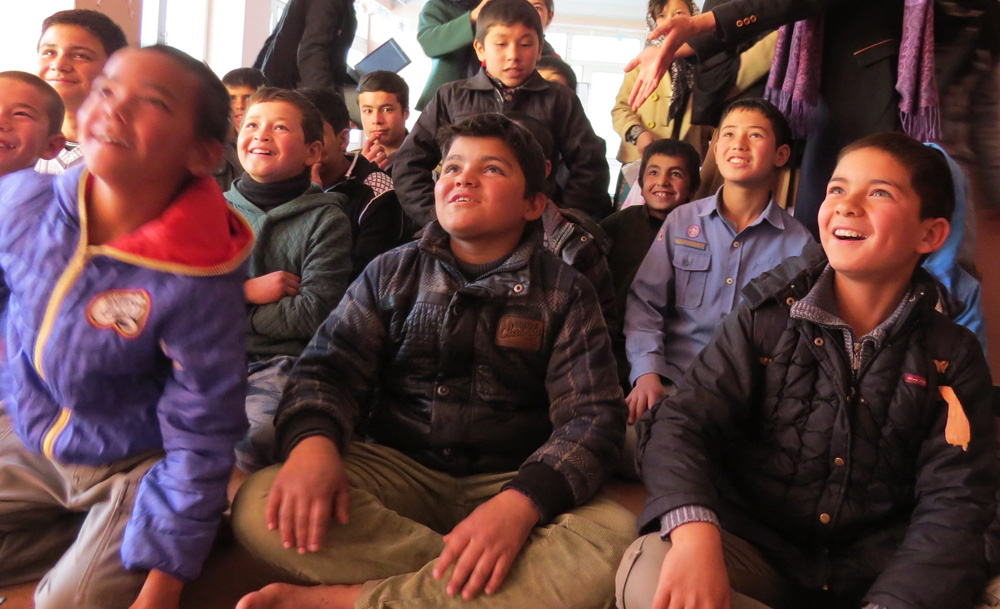 Kabul Street Kids at the Borderfree Peace Centre enjoying their weekly lessons