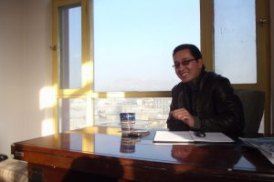 Abdul Ghafoor in his office