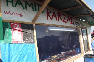 Afghan restaurant in Calais refugee camp